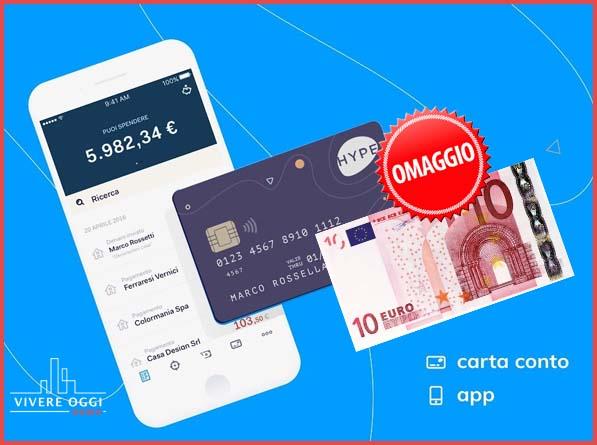 promozione 10 euro omaggio hype